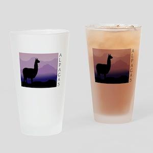alpaca purple mountains Pint Glass