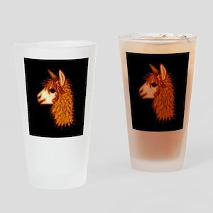Alpaca (on black) Pint Glass