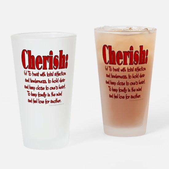 Cherish Definition Pint Glass