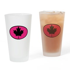 Black Maple Leaf Pint Glass