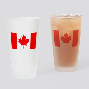 Candian Flag Pint Glass