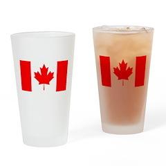 Candian Flag Pint Glass