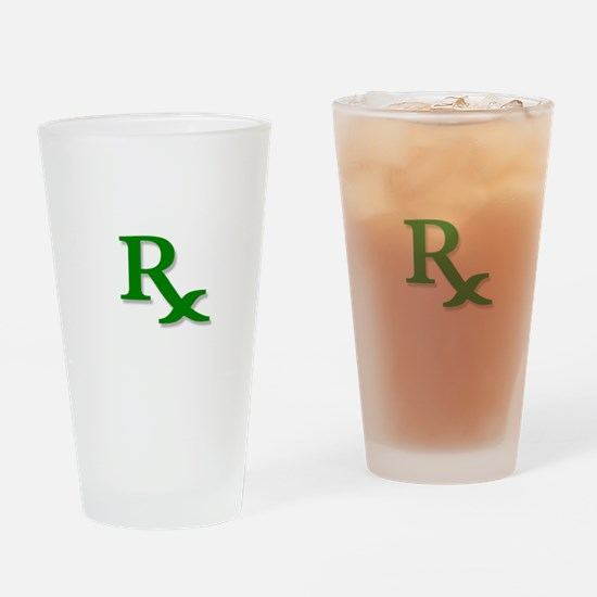 Pharmacy Rx Symbol Pint Glass