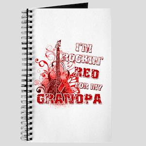 I'm Rockin' Red for my Grandpa Journal