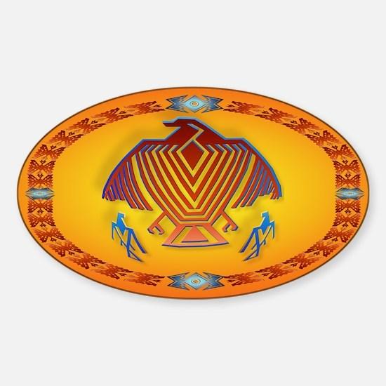 Big Thunderbird Sticker (Oval)