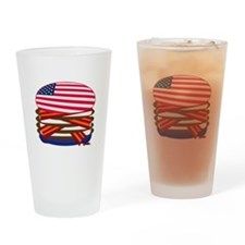 USA Burger Pint Glass