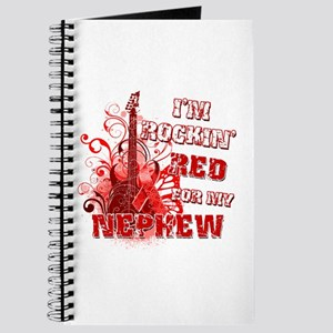 I'm Rockin' Red for my Nephew Journal