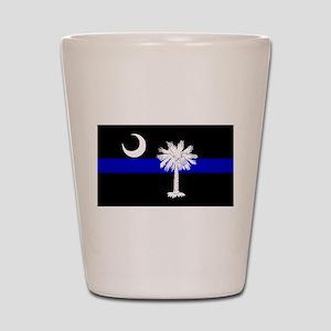 South Carolina Police Shot Glass