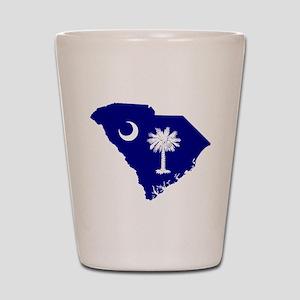 South Carolina Palmetto Shot Glass