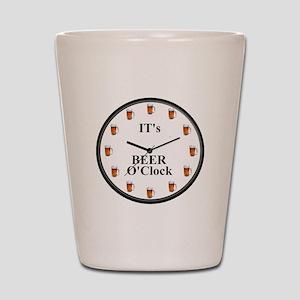 Its Beer O'Clock Shot Glass