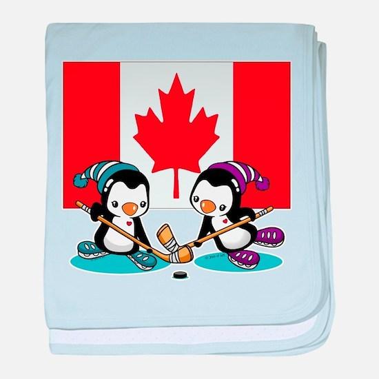 Ice Hockey Baby Blanket