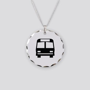 Bus Stop Image Necklace Circle Charm