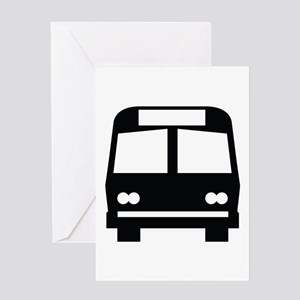 Bus Stop Image Greeting Card