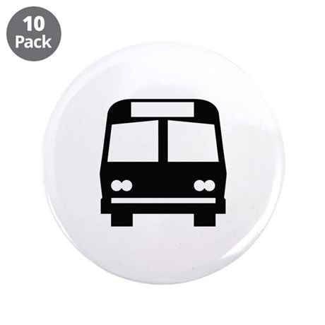 """Bus Stop Image 3.5"""" Button (10 pack)"""