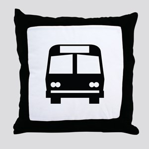 Bus Stop Image Throw Pillow