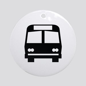 Bus Stop Image Ornament (Round)