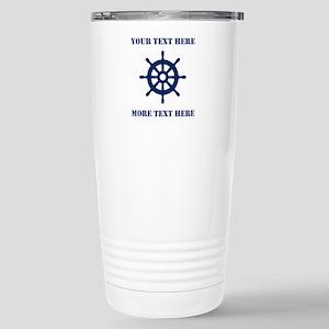 Custom nautical ship wheel Travel Mug