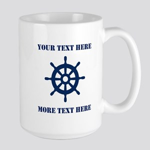 Custom Nautical Ship Wheel Mugs For Boat Captain