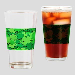 Lucky green clovers Drinking Glass