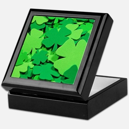 Lucky green clovers Keepsake Box