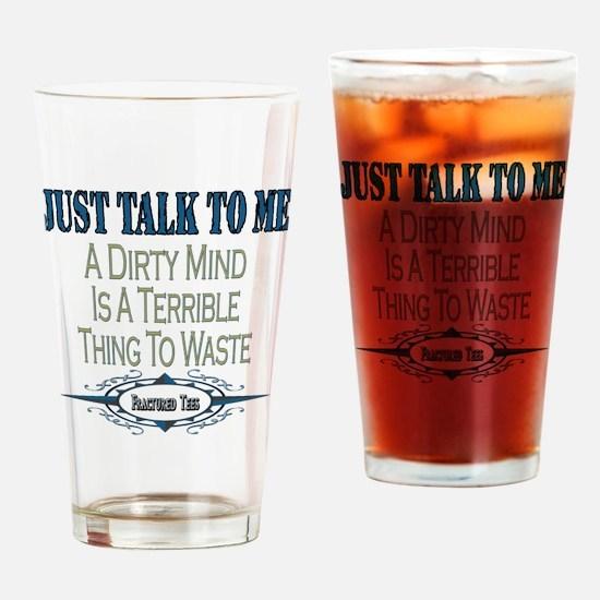 Talk To Me Pint Glass