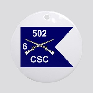 CSC 6/502nd Ornament (Round)