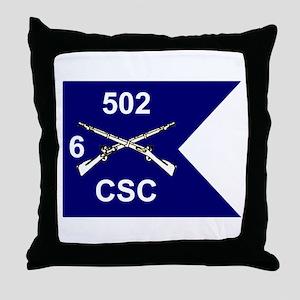 CSC 6/502nd Throw Pillow