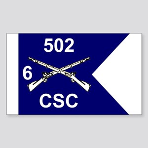 CSC 6/502nd Rectangle Sticker