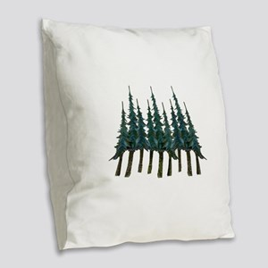THE MIGHTY ONES Burlap Throw Pillow