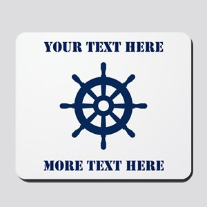 Custom nautical ship wheel Mousepad