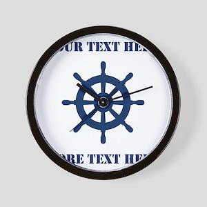 Custom nautical ship wheel Wall Clock