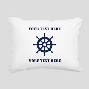 Custom nautical ship wheel Rectangular Canvas Pill