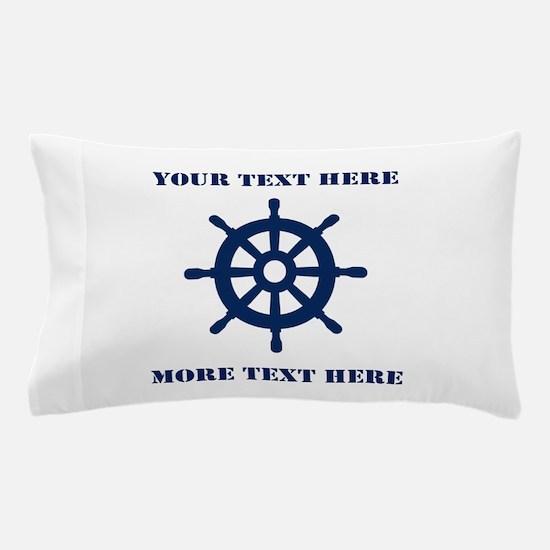 Custom Nautical Ship Wheel Pillow Case For Sailor