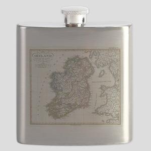 Vintage Map of Ireland (1841) Flask