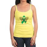 Ovarian Cancer Tribal Butterfly Jr. Spaghetti Tank