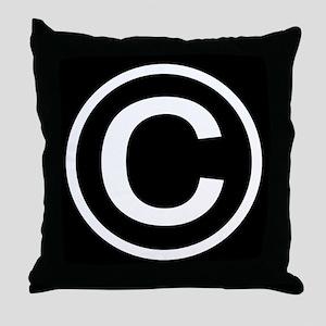Copyright Throw Pillow
