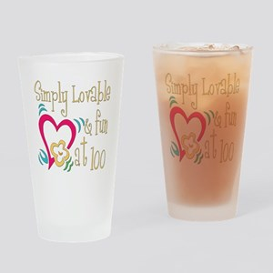 Lovable 100th Pint Glass