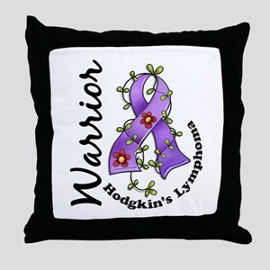 Hodgkin's Lymphoma Warrior Throw Pillow