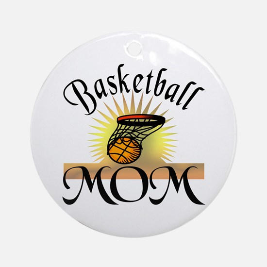 Basketball Mom Ornament (Round)