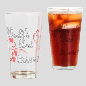 Best Grammy (Pink Hearts) Pint Glass