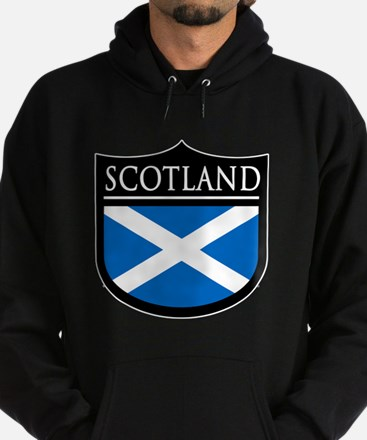 Scotland Flag Patch Hoodie (dark)