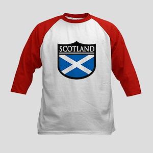Scotland Flag Patch Kids Baseball Jersey