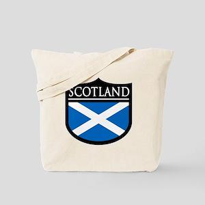 Scotland Flag Patch Tote Bag