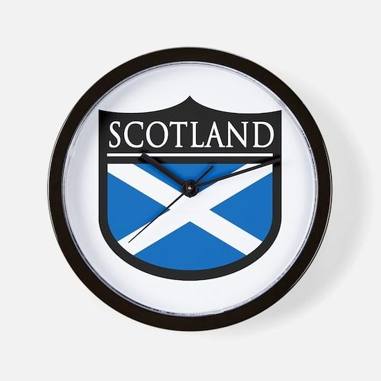 Scotland Flag Patch Wall Clock