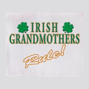 Irish Grandmothers rule Throw Blanket