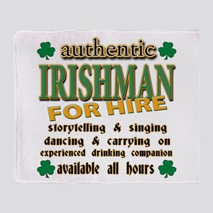 Irishman for Hire Throw Blanket