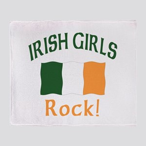 Irish Grils Rock Throw Blanket