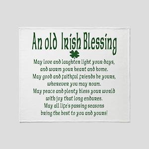 Old irish Blessing Throw Blanket