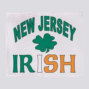New jersey irish Throw Blanket