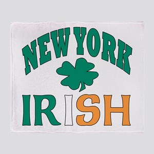 New York irish Throw Blanket